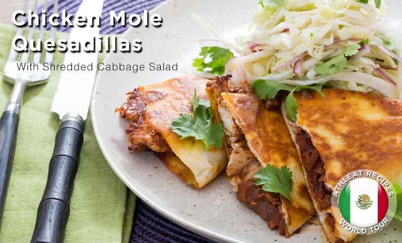 Chicken Mole Quesadillas