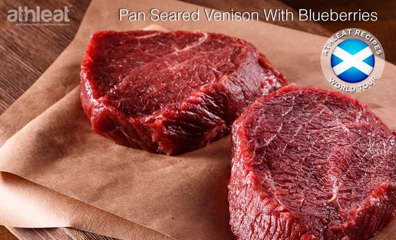 Pan seared venison