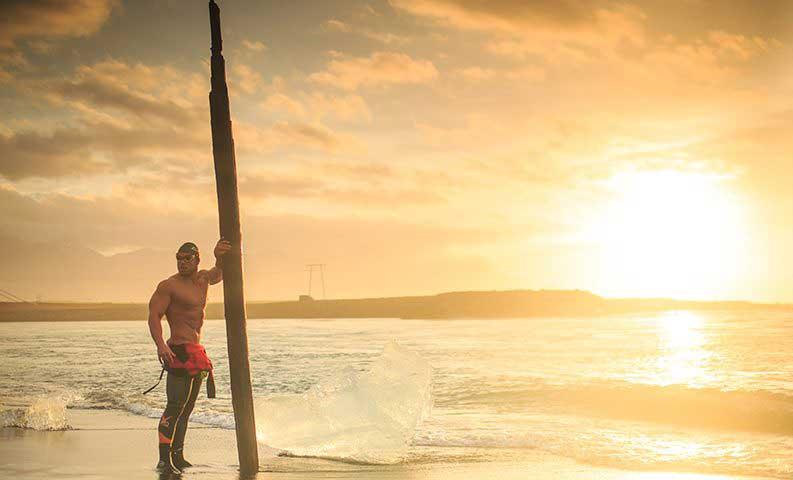 Ross Edgley strongman swimming