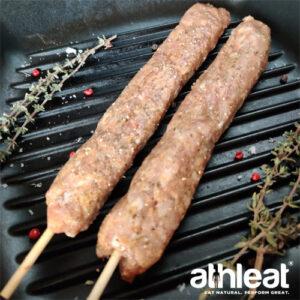 Free range chicken kofte kebab by Athleat closeup
