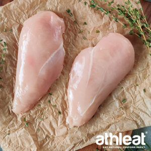 Free range chicken breasts without skin by Athleat
