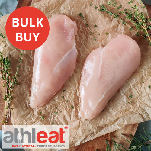 Free range chicken breasts without skin from Athleat