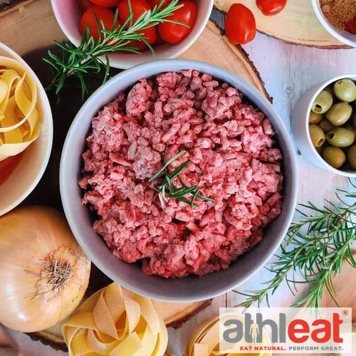 Raw grass fed lamb mince from Athleat