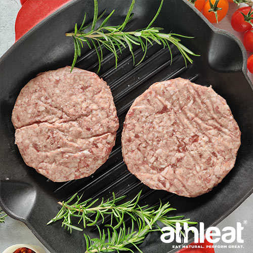 Grass fed lamb burger by Athleat