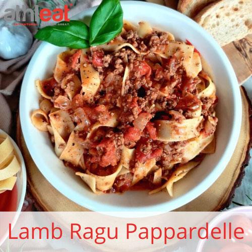 Lamb Ragu made with Grass Fed Lamb mince