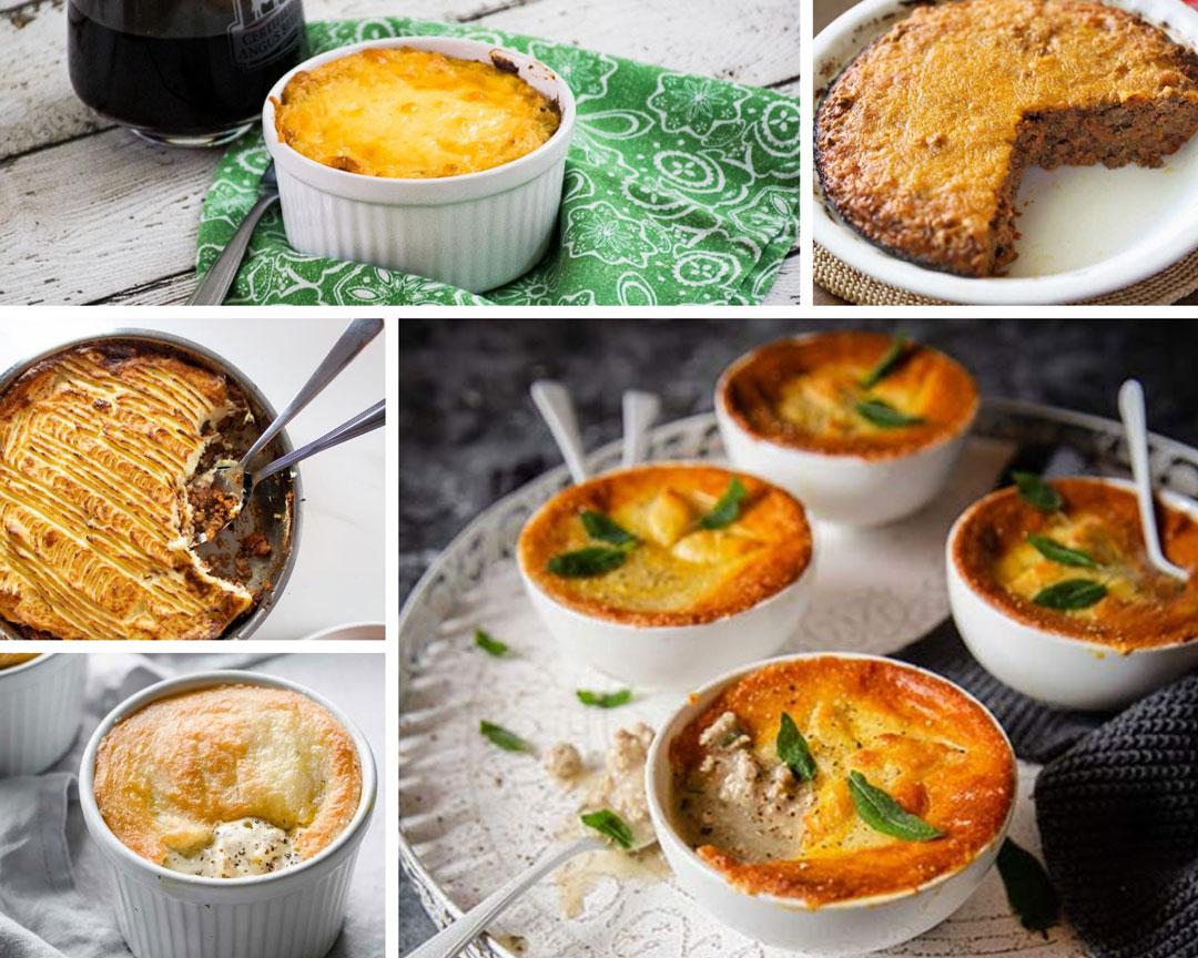 British pie week keto friendly pies collage