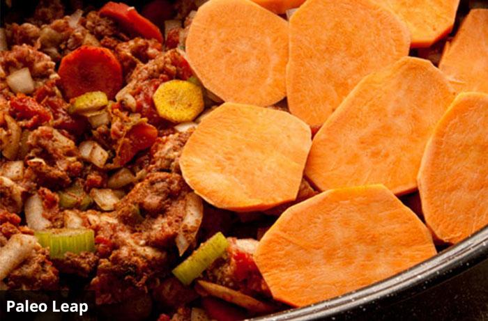 lamb and sweet potato paleo pie