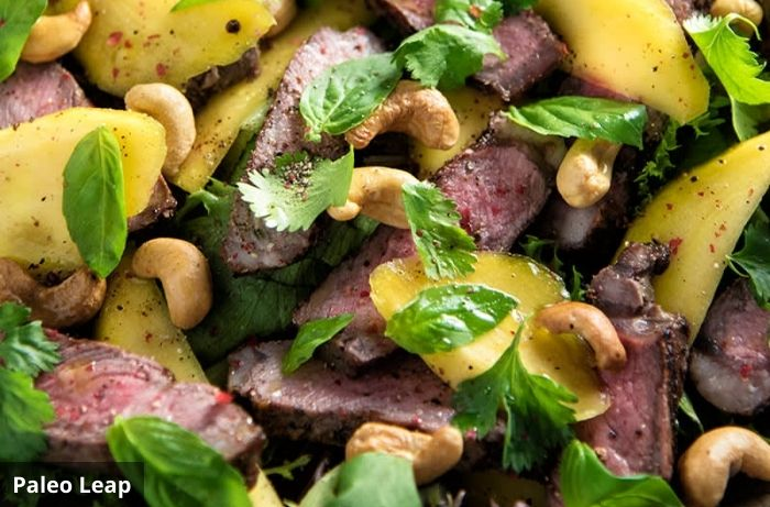 Steak and mango salad from Paleo leap