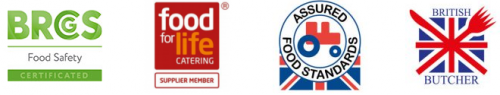 Meat accreditations for Athleat butchers - Red Tractor Food Standards - For for Life Catering - BRCS Food Safety